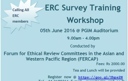 ERC Workshop