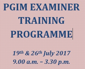 PGIM EXAMINER TRAINING PROGRAMME