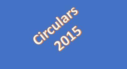 Circulars 2015