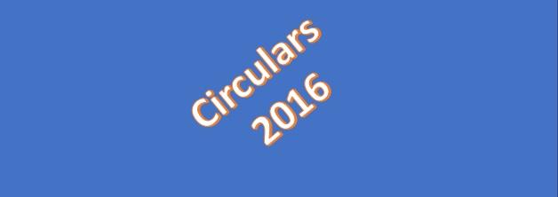 Circulars 2016