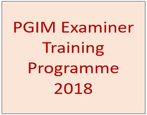 PGIM Examiner Training Programme – 2018