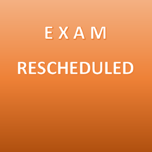 MD(Comm. Medicine/Dentistry) by Thesis Exam.-May 2018(Re-Scheduled Dates)