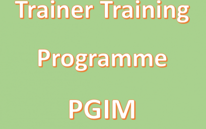 Trainer Training Programme of the PGIM