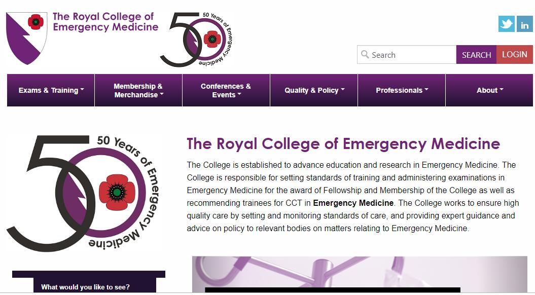 Visit to Royal College of Emergency Medicine -UK | PGIM