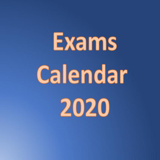 Calendar of Examinations – 2020