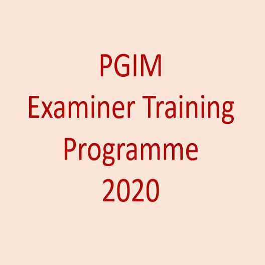 PGIM Examiner Training Programme 2020