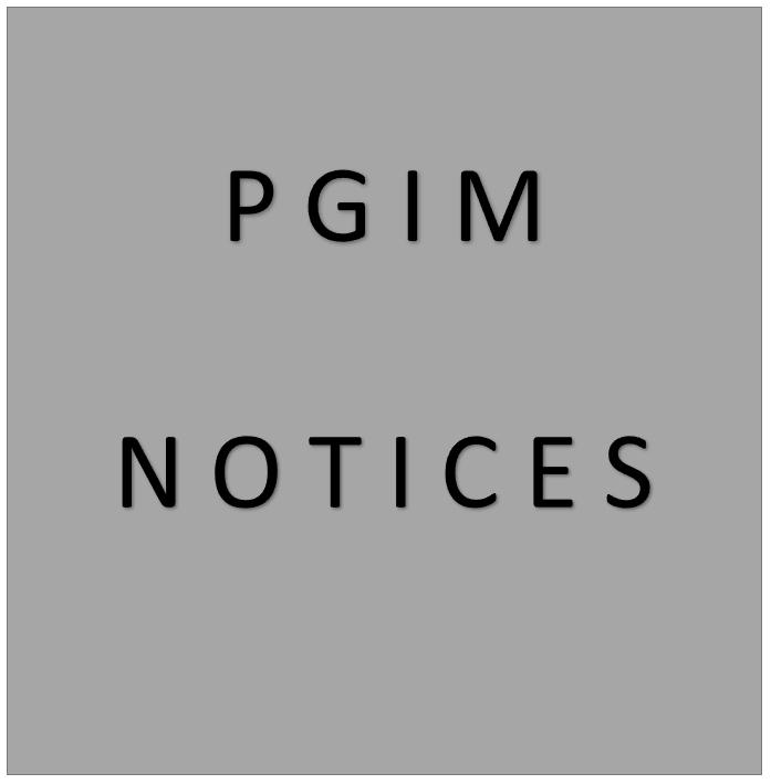 PGIM NOTICES