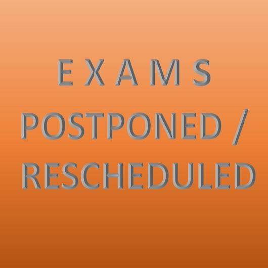 Rescheduled Examinations