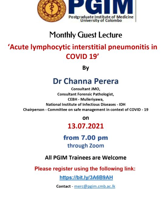 Monthly Guest Lecture