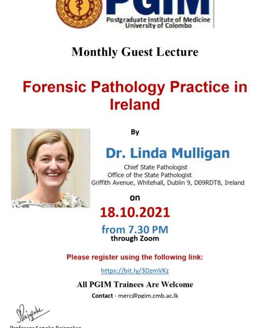 Forensic Pathology Practice in Ireland
